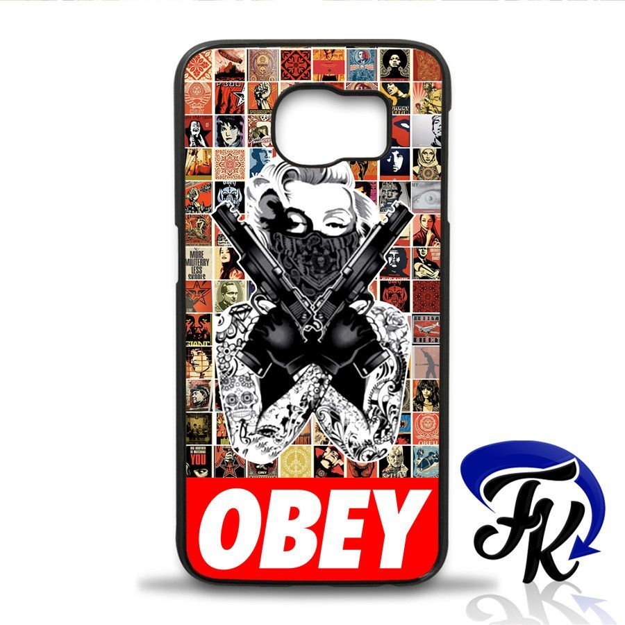 Marylin Monroe Obey Gangster Phonecase, Case, Cover Plastic and Rubber for Samsung Galaxy Cases, iPhone Cases, iPod Cases