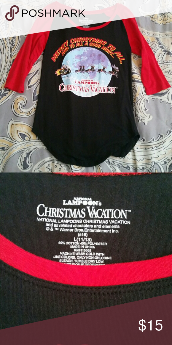 national lampoon s christmas vacation top national lampoon s christmas vacation top only worn once 3