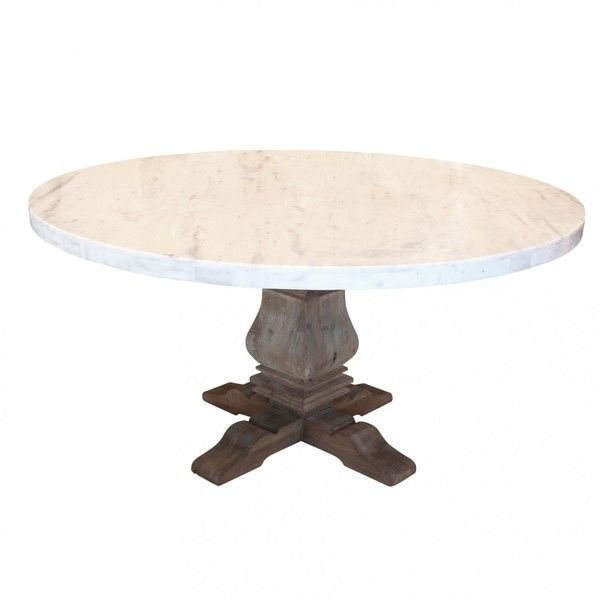 Lyon Round Marble Top Dining Table 2 965 CAD ❤ liked on
