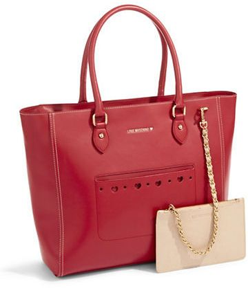 Love Moschino Nappa Tote red on shopstyle.ca