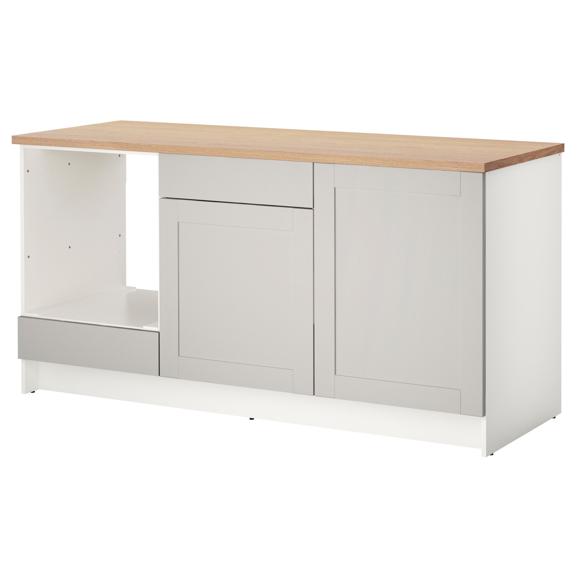 Best Knoxhult Base Cabinet With Doors And Drawer Grey Ikea 400 x 300
