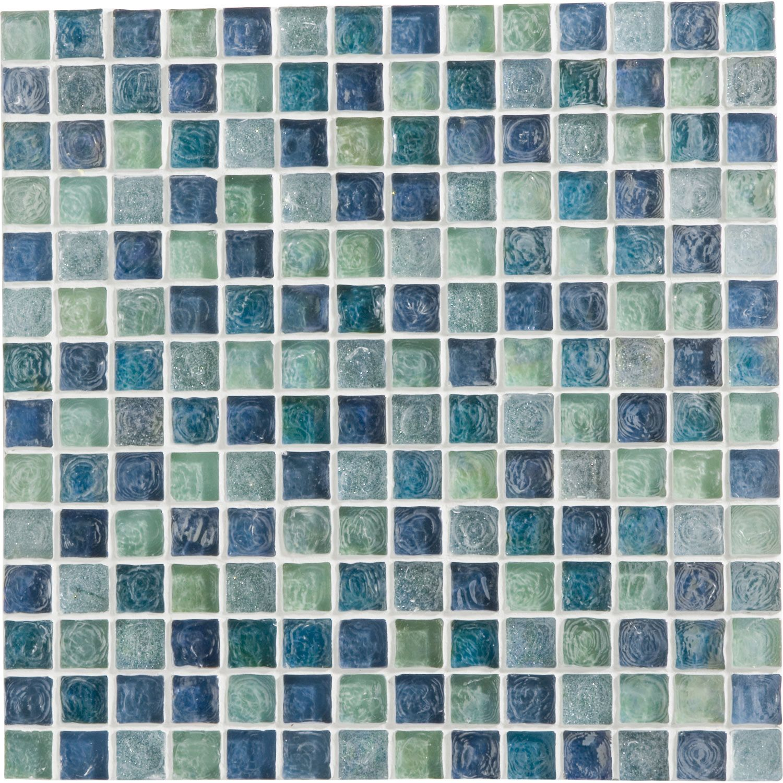 Mosaique Ice Flou Turquoise 2x2 Cm Leroymerlin Salle De Bain Mosaique Salle De Bain Mosaique