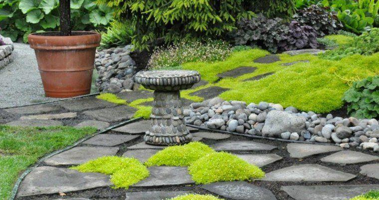 jardin avec bordure pour l'extérieur