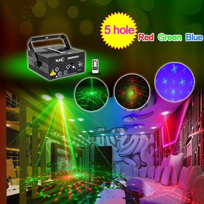 LED Laser Stage Lighting 5 Lens 80 Patterns RG Mini Led Laser