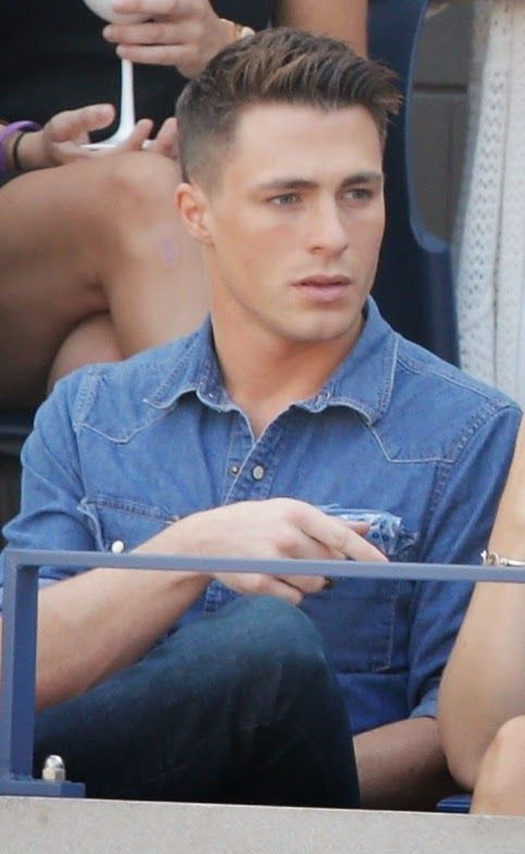 Colton Haynes at the Mercedes-Benz Fashion Week an