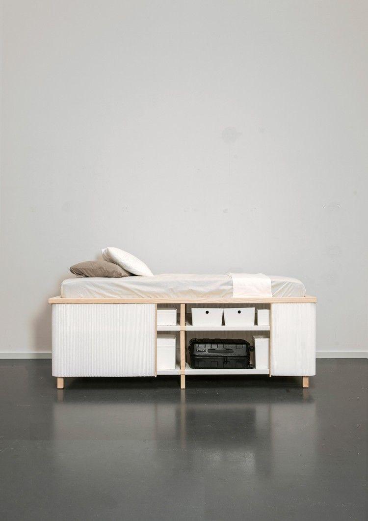 Das Bett Mit Stauraum Von Yesul Jang Ein Platzsparendes Design Fur