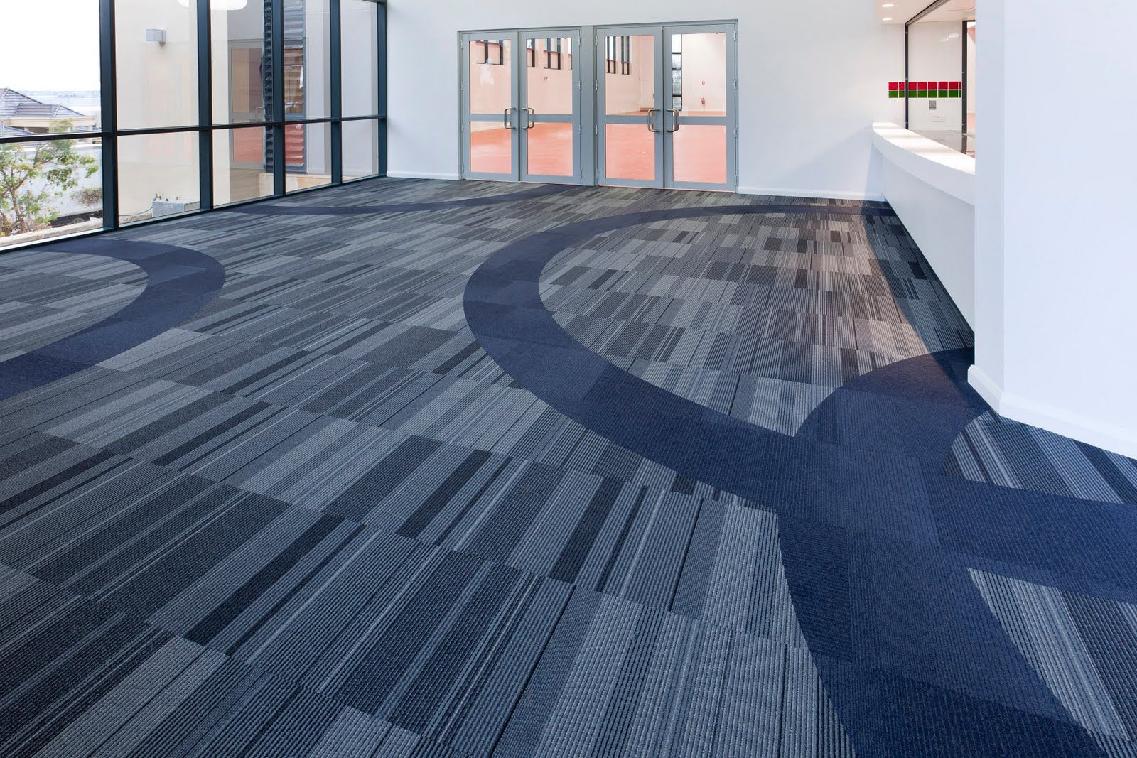 Blue Commercial Carpet Tiles
