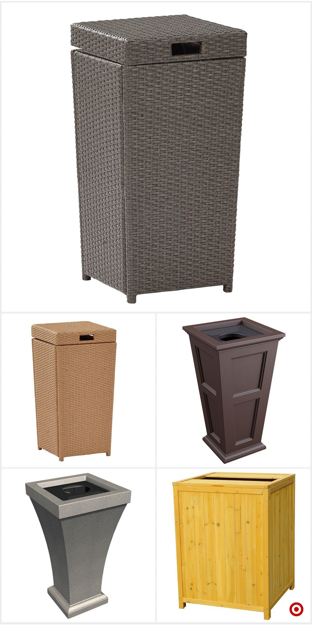 shop target for outdoor trash can you will love at great low prices