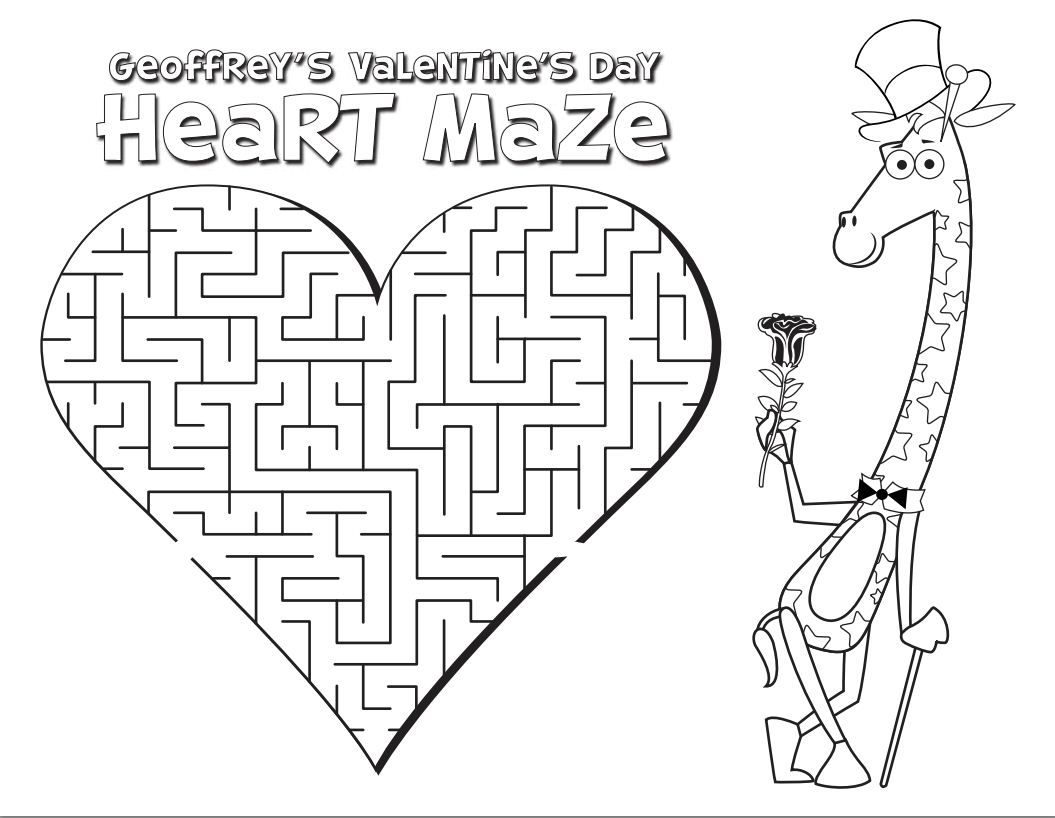 Valentine S Day Activity Geoffrey S Valentine S Day Heart Maze