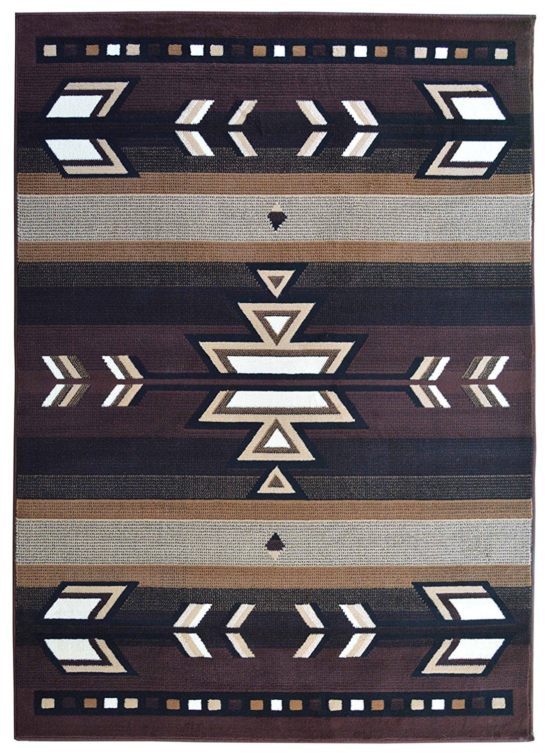 Rugs 4 Less Collection Southwest Native American Indian Area Rug Design R4l Sw1 In Brown Chocolate 5 X7 Want Additional Info Click On The Image