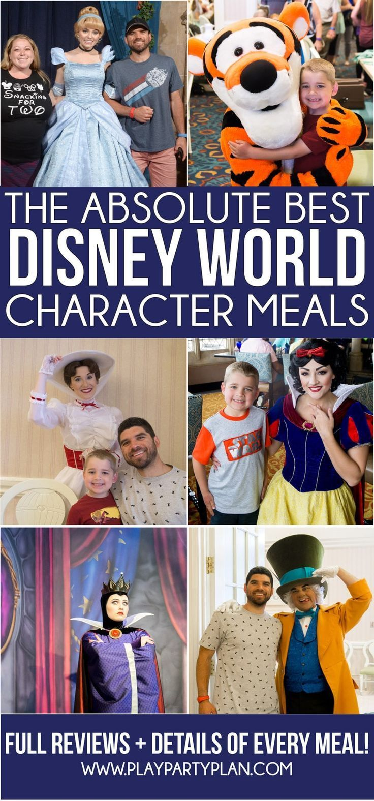 The ultimate guide to Disney World character dining updated for 2019! A list of best places to get breakfast, which resorts have character meals, best for families, and more! And individual reviews of every single Disney character meal! #disneycharacters