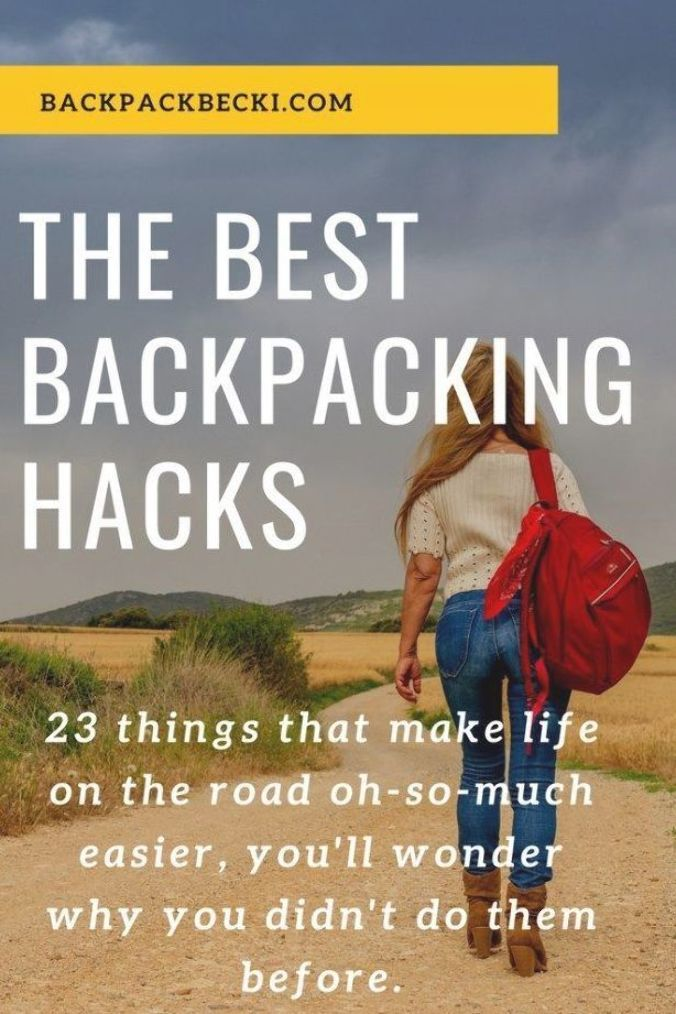 Tried and Tested travel hacks for Backpackers. Backpacking tips. Easy backpacker hacks. Easy travel tips. How to look like a pro seasoned backpacker. Tried and tested backpacker life hacks. #backpackinghacks #travellerhacks #travelerhacks #tipsfortravellers #tipsfortravelers #backpackingtips #backpackinghhacks #solotravel #travelalone #solofemaletravel #backpackingsolo #solotravellers #benefitsofsolotravel #solopro #alonetime #travelbloggers #backpackbecki