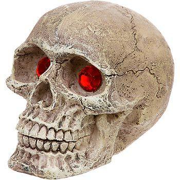 Penn plax skull gazer with jewel eyes aquarium ornament for Fish tank skull decoration