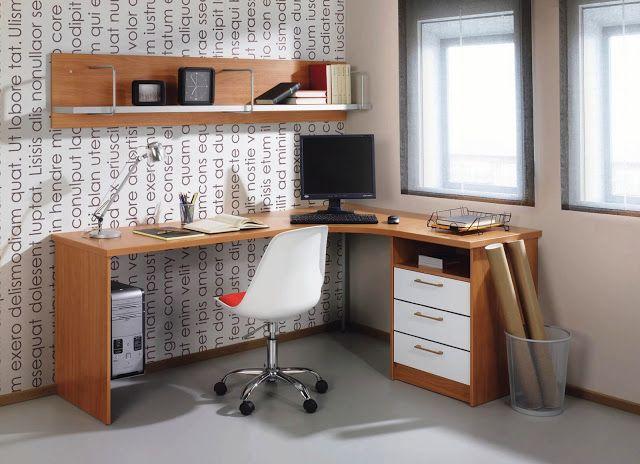 Sillas y escritorios escritorio juvenil en esquina for Sillas escritorio juvenil