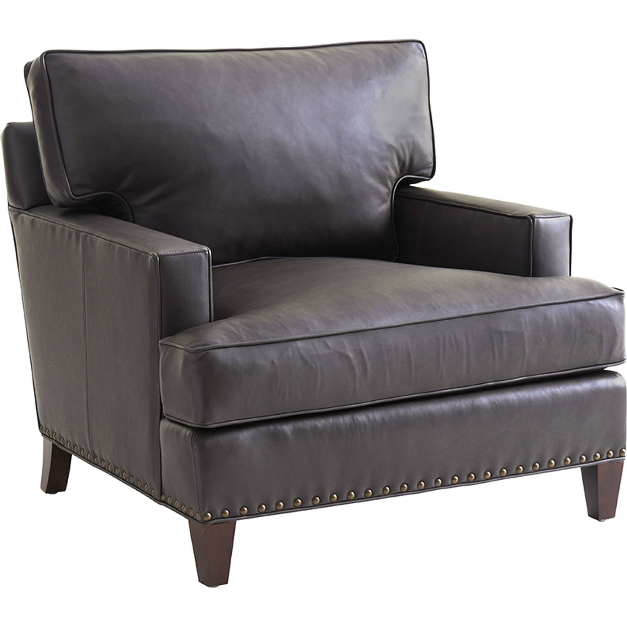 Zavala Hughes Leather Chair in Gray Lexington Furniture