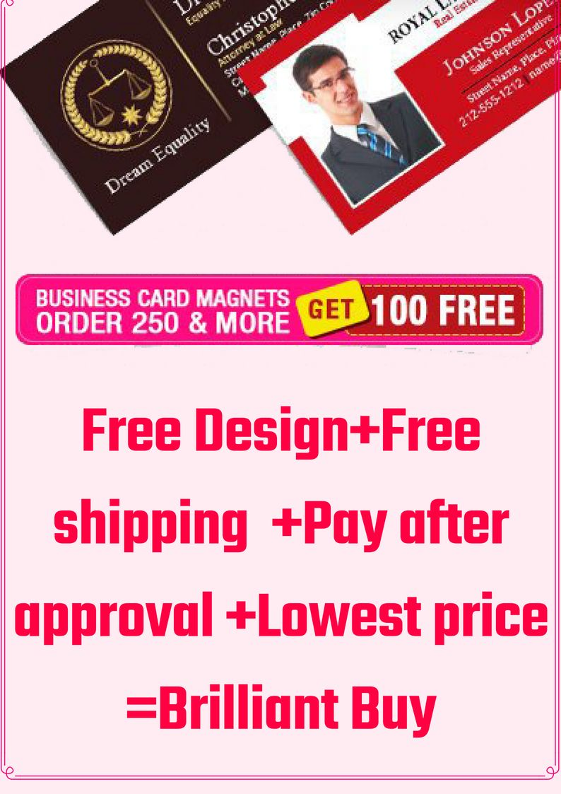 Get 100 Free Business Card Magnets For An Order Of 250 Or More It S