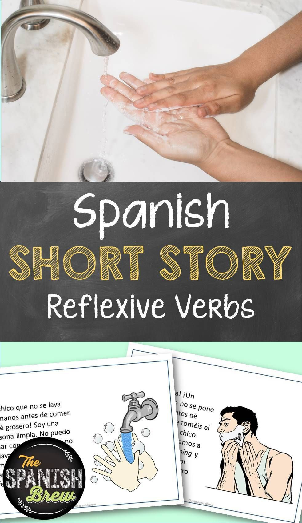 Tprs Spanish Short Story Using Reflexive Verbs Spanish Reading Comprehension Reflexive Verbs High School Spanish Classroom [ 1700 x 982 Pixel ]