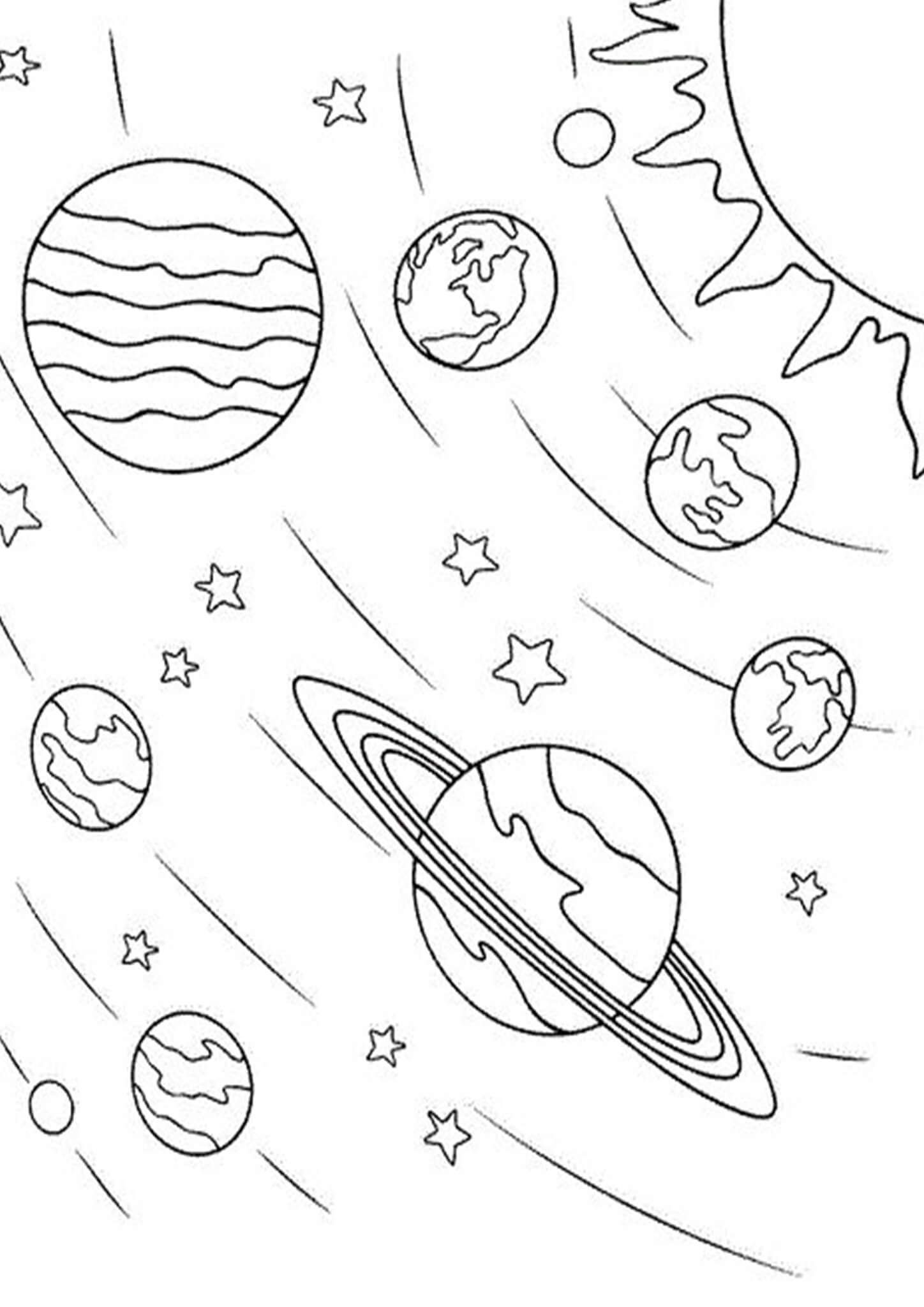 Free Easy To Print Space Coloring Pages Space Coloring Pages Coloring Pages Free Printable Coloring Pages [ 2048 x 1448 Pixel ]
