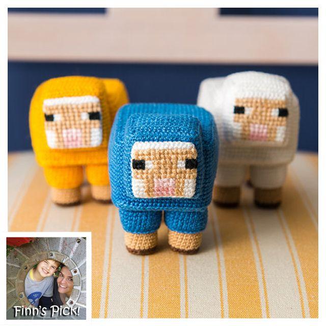 Finn S Pick Crochet A Herd Of Minecraft Sheep Minecraft Crochet