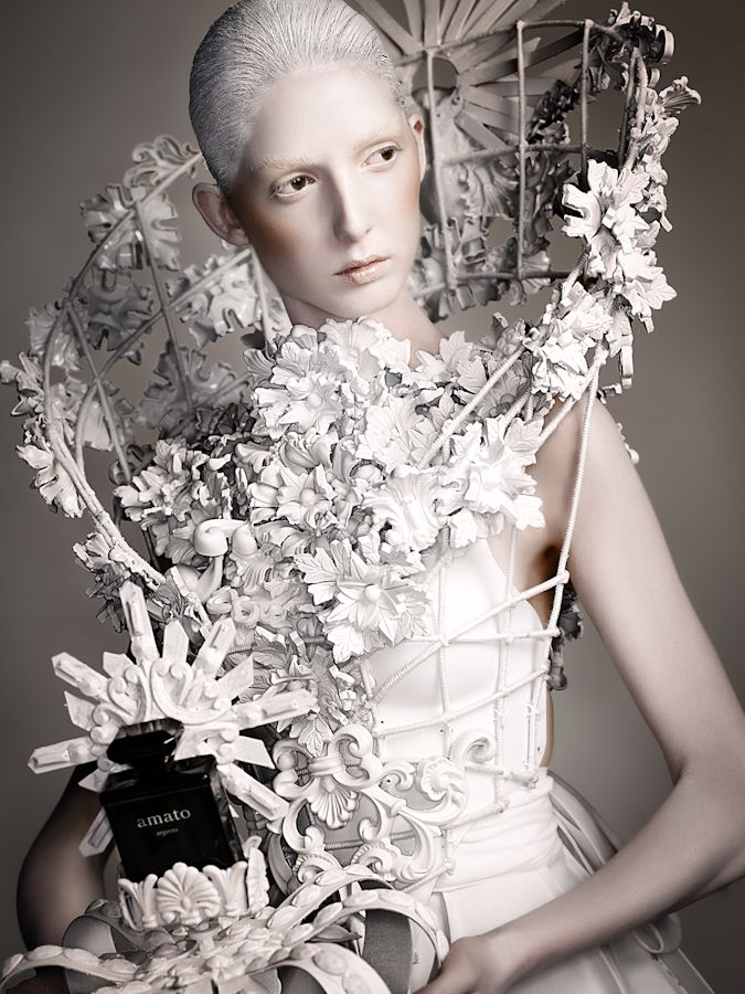 Sculptural Fashion - floral cage dress; wearable art; creative fashion // Amato Haute Couture #wearableart