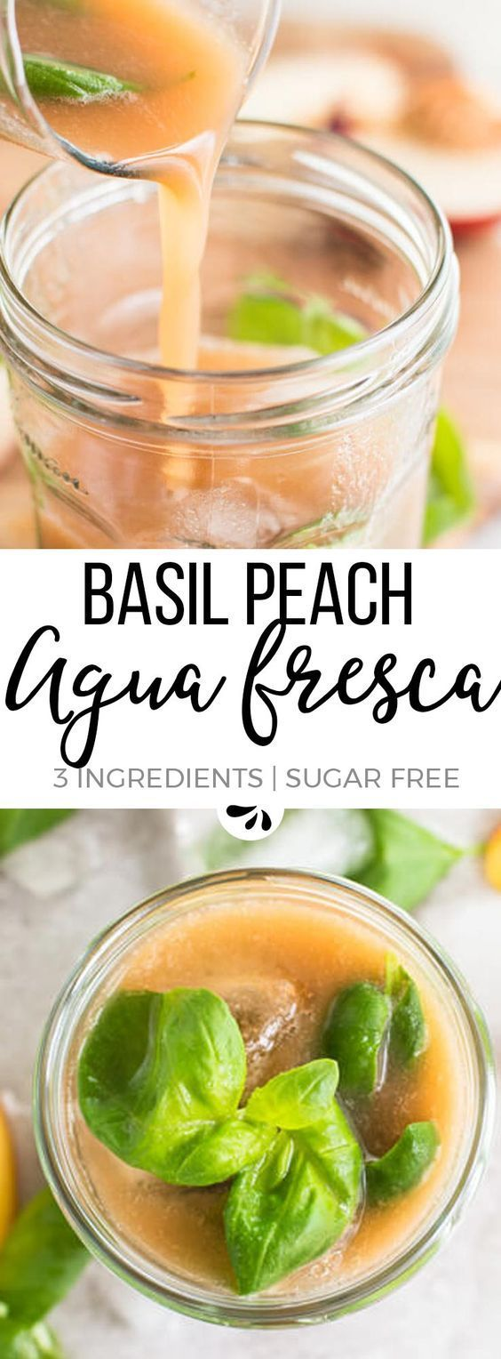Are you looking for healthy and refreshing summer drinks to enjoy with your kids? This nonalcoholic basil peach aqua fresca is THE easy recipe for you! Check out the tips in the post - they make it absolutely foolproof! #nonalcoholicsummerdrinks