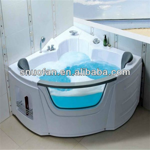 Indoor whirlpool bathtub hot tub with glass jacuzzi sizes $300~$800 ...