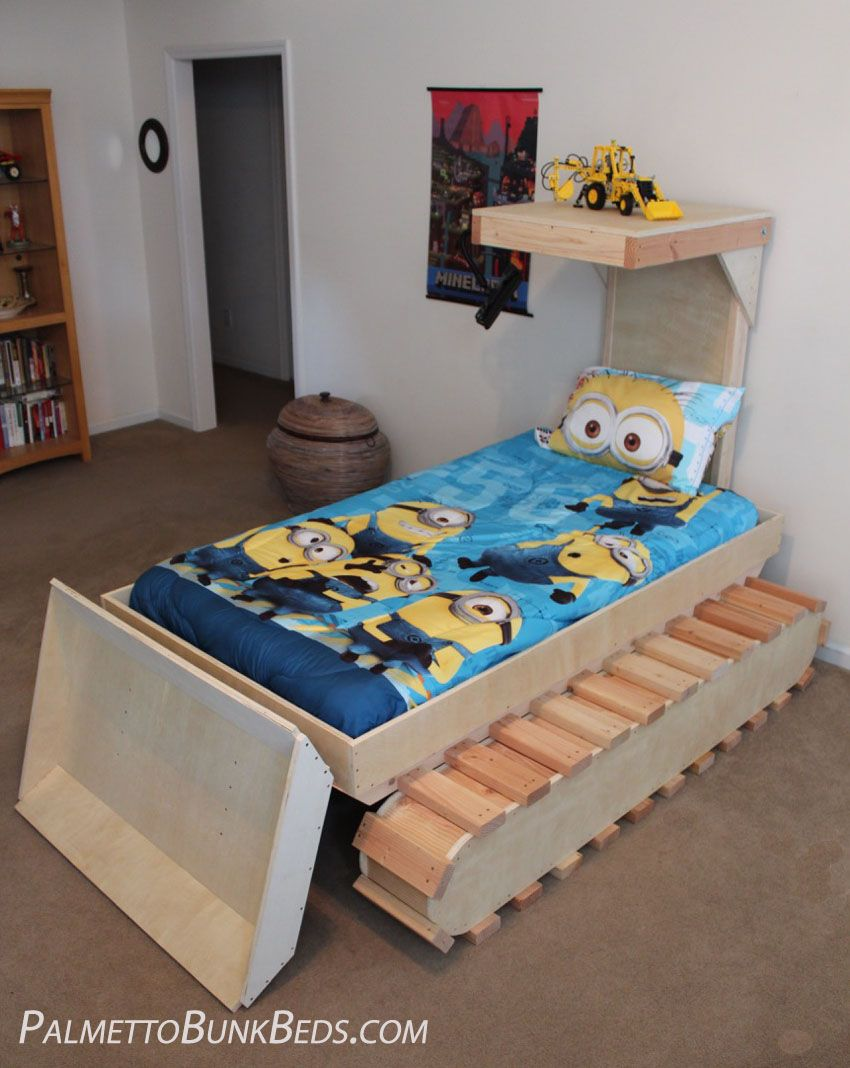 dozer bed diy plans from palmetto bunk beds children s rooms
