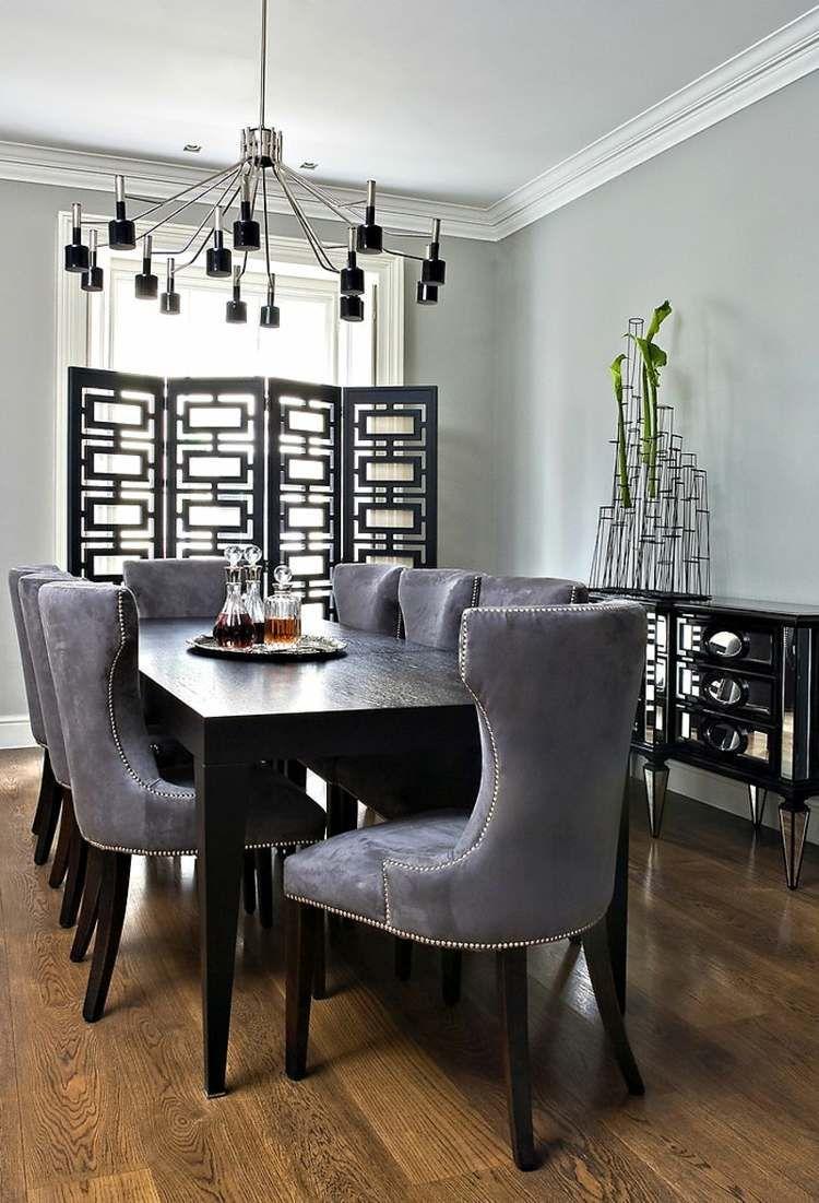 Salle  manger moderne et sombre – 50 idées élégantes  emprunter