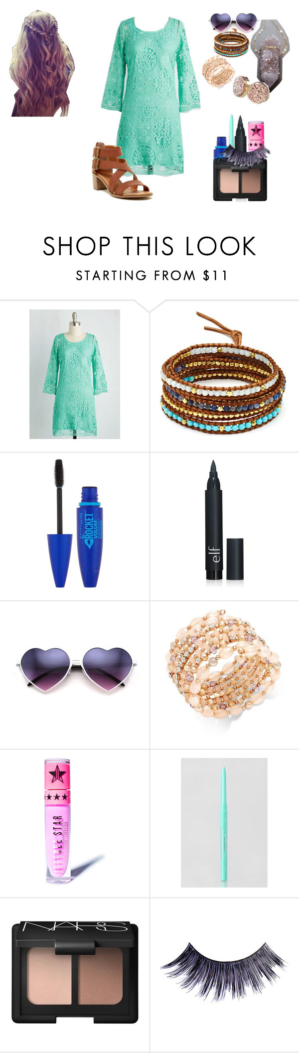 """""""Lillian Lockstar In """"THe Kids Aren't Alright"""" Music Video"""" by shestheman01 on Polyvore featuring Chan Luu, Maybelline, INC International Concepts, Jeffree Star, Stila, Rampage, NARS Cosmetics and Manic Panic NYC"""