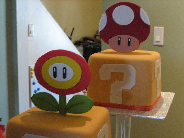 Super Mario wedding cake by cakeartistwannabe, via Flickr