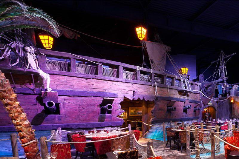 Le d cor magique et f erique du restaurant pirates for O miroir magique montpellier