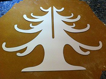 christmas tree template cut out - Google Search