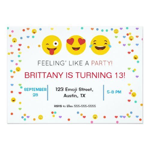 funny emoji ring bearer request invitation emoji birthday party