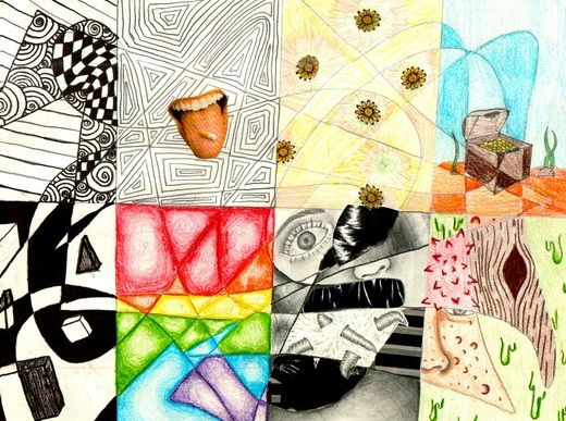 7 Principles Of Design In Art : Students had a week and half to create an 8 grid layout pertaining