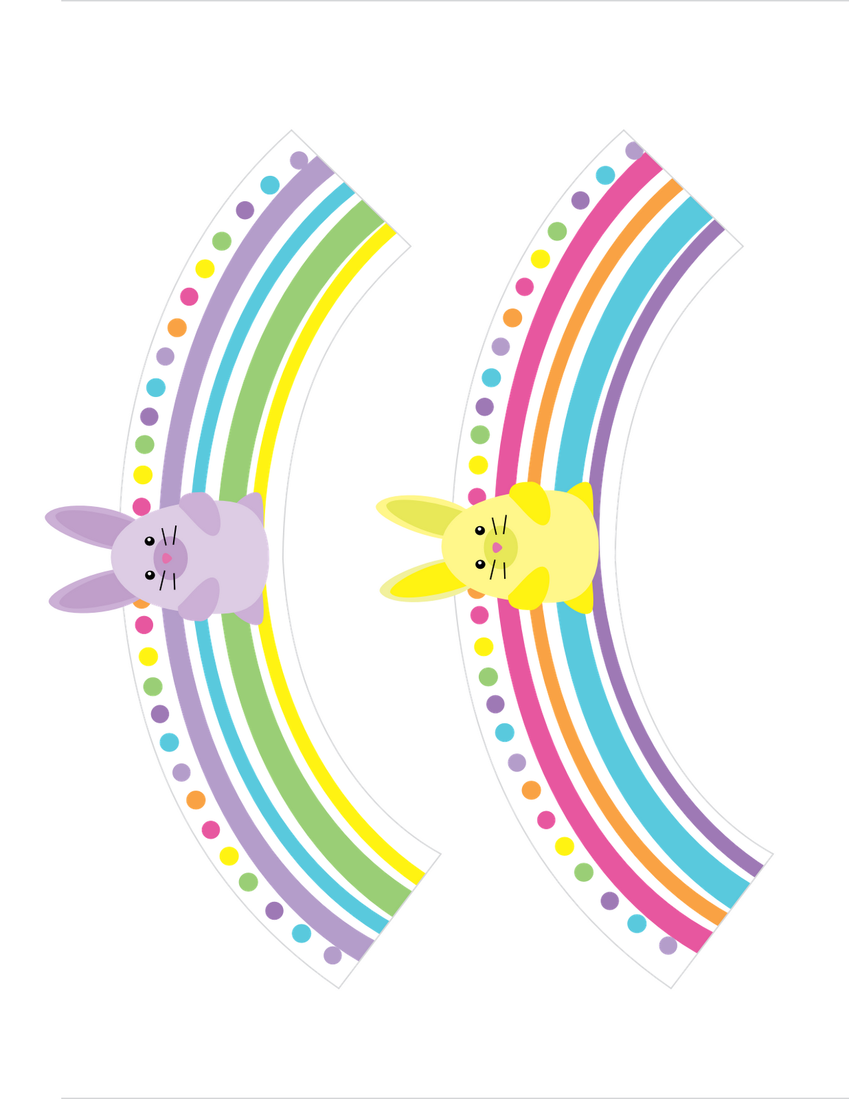 Bunny Stripe Cupcake Wrappers  Free Download Cute Printables