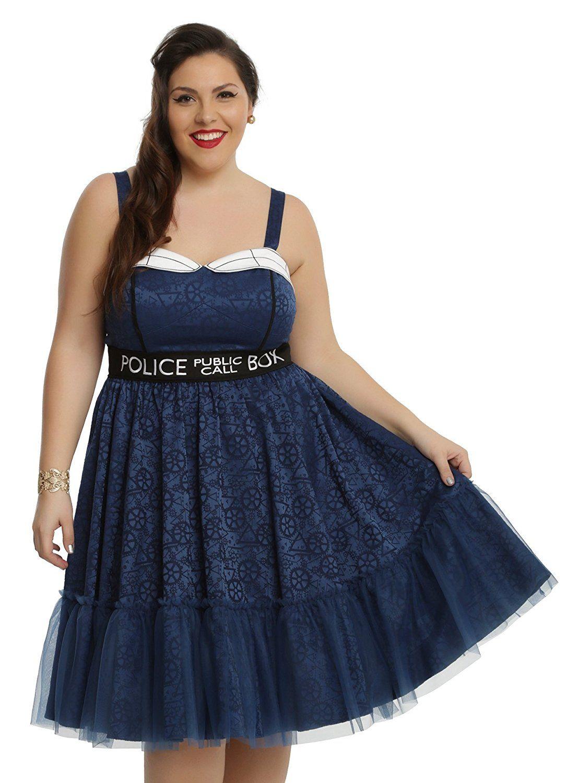 Hot Topic Women s Doctor Who Tardis Dress Plus Size at Amazon