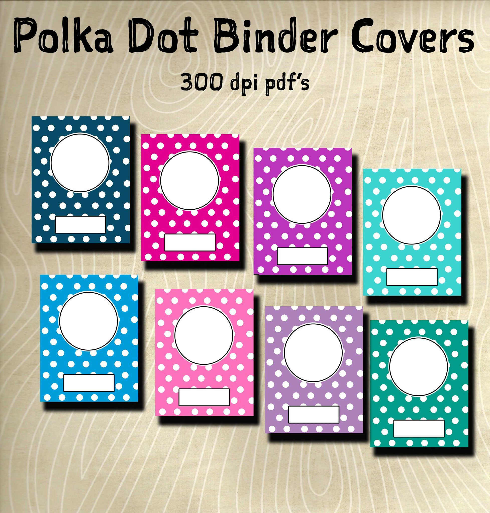 Printable Binder Cover Pack-8 Different Binder Covers
