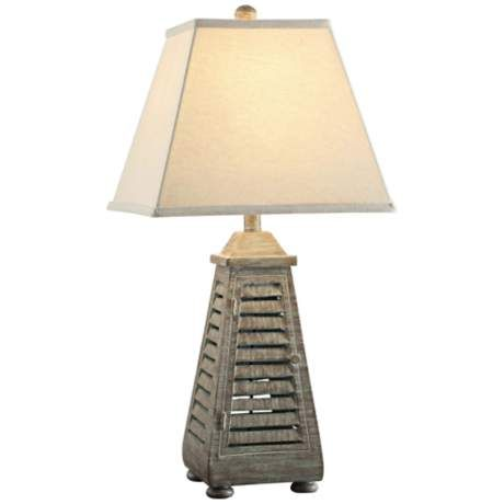 Crestview Collection Antique Shutter Table Lamp 6j295 Lamps Plus Lamp Shutter Table Table Lamp