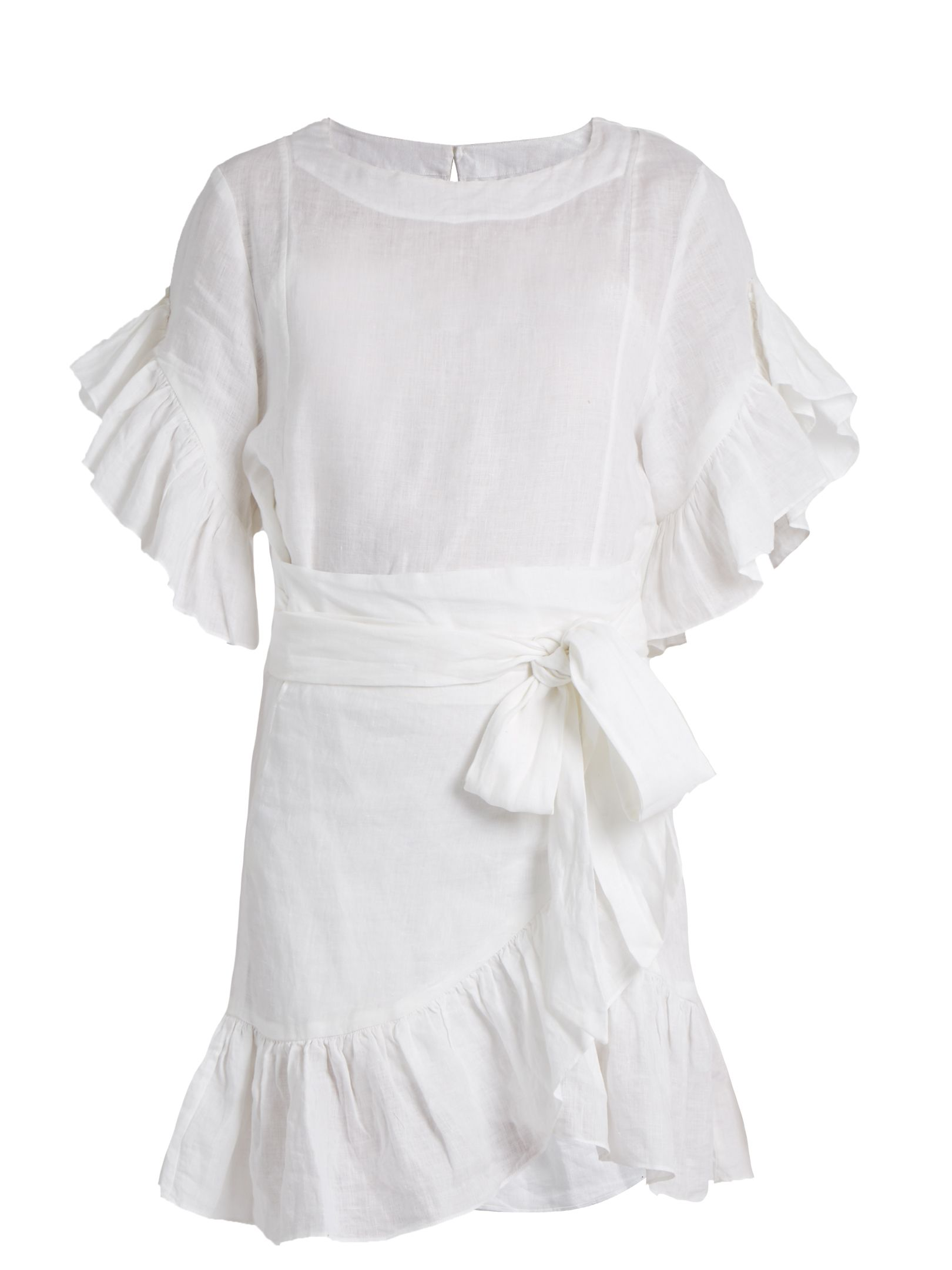 6dae796ab44 Click here to buy Isabel Marant Étoile Delicia ruffled linen mini ...