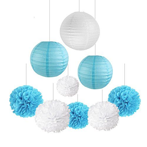 Birthday Decoration Blue and White