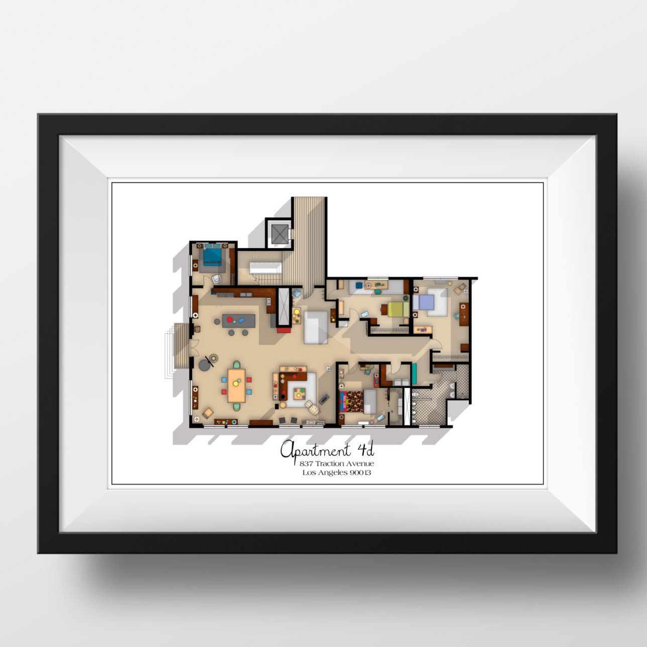 New Girl TV Show Apartment Floor Plan- New Girl TV Show Layout ...