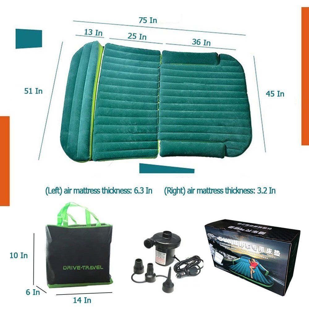 3 Trees Inflatable and Foldable Car Bed Air Mattress with