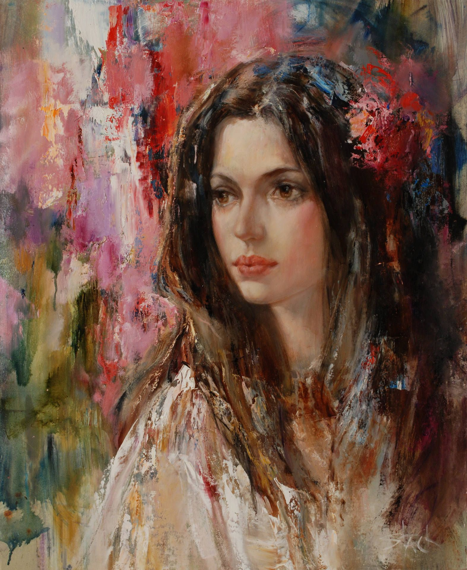 Beautiful Gypsy Woman Painting