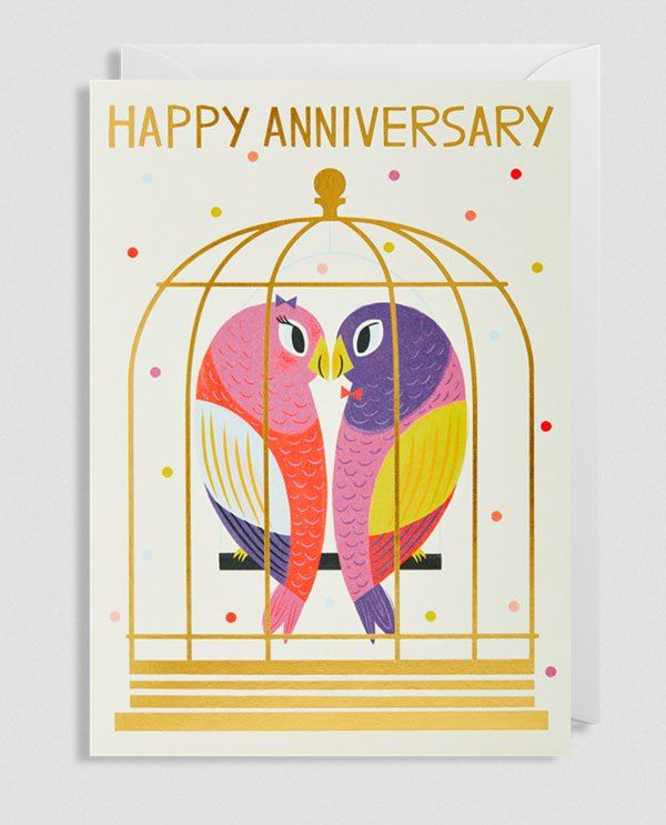 happy anniversary greeting cardallison black for lagom