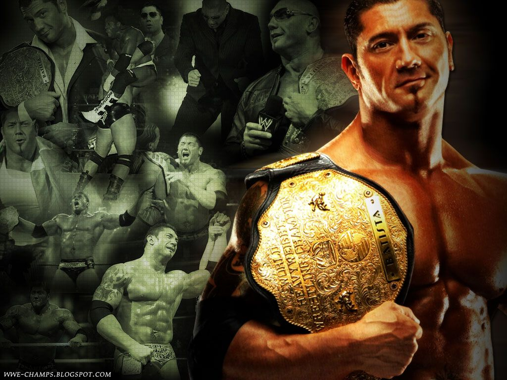 Wwe Champs The Animal Dave Batista Bomb Wwe Superstars Wrestling Professional Wrestling