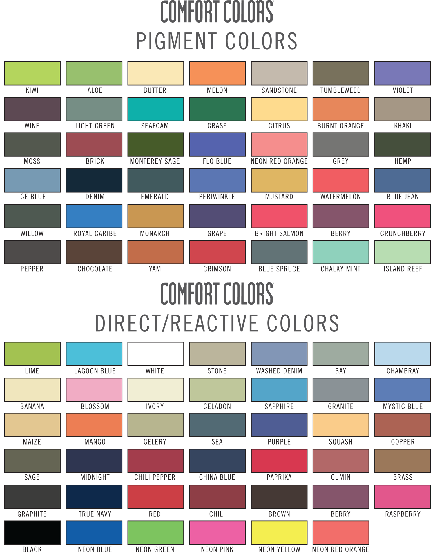 Comfort colors color chart 2014 comfort colors color chart comfort colors color chart 2014 comfort colors color chart sweatshirts comfort color t shirt ratelco nvjuhfo Gallery