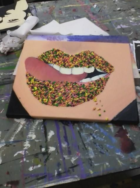 nerd candy lips one of my favorite pieces i've done