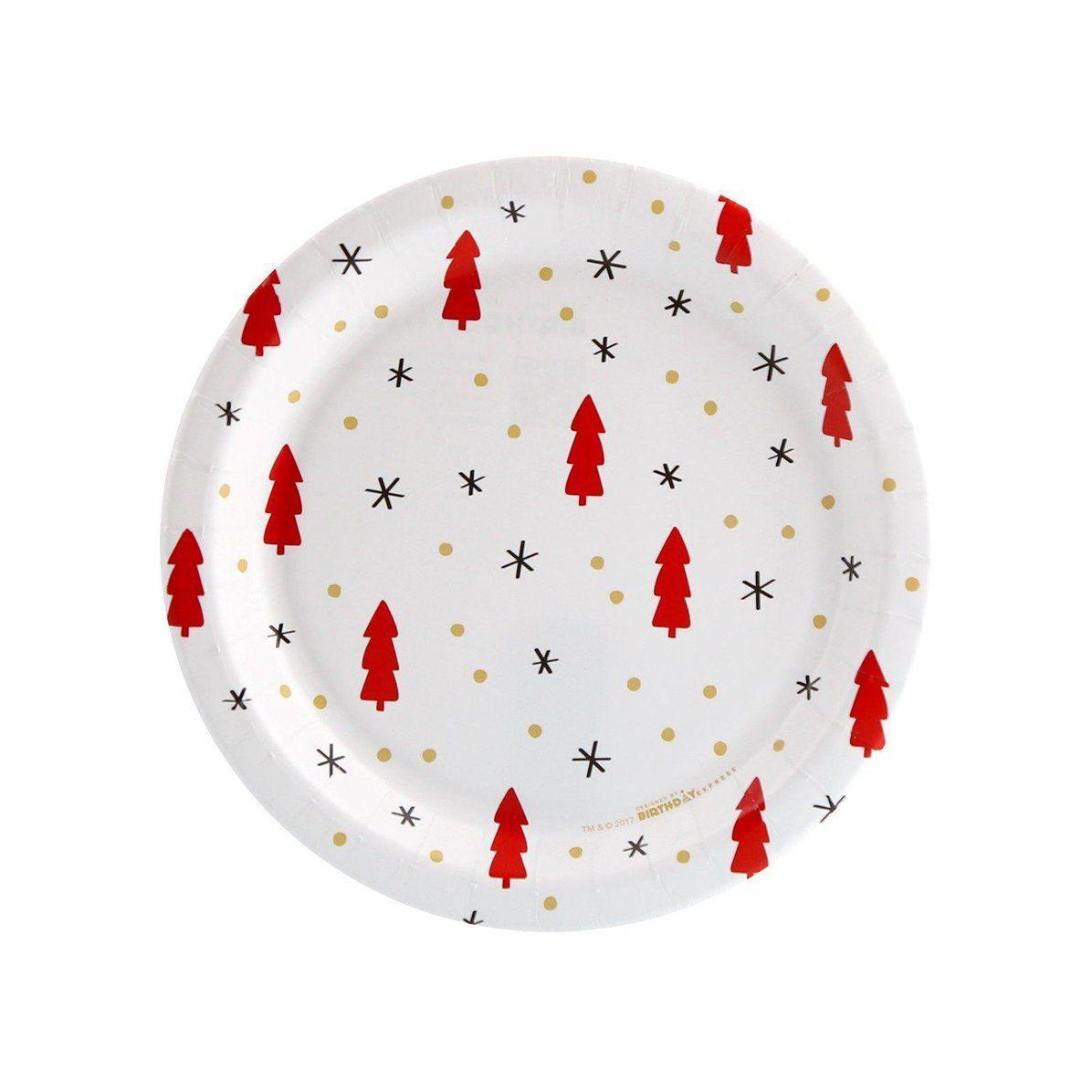 Joy To The World Tree Dot Star Toss Dessert Plate 8 Joy To The World Christmas Tableware Holiday Plates