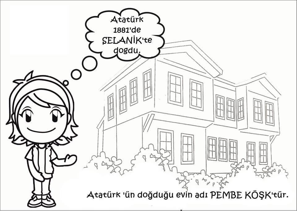 Nazan Ogretmen Okul Oncesi Adli Kullanicinin Ataturk Panosundaki Pin Boyama Sayfalari Faaliyetler Boyama Kitaplari