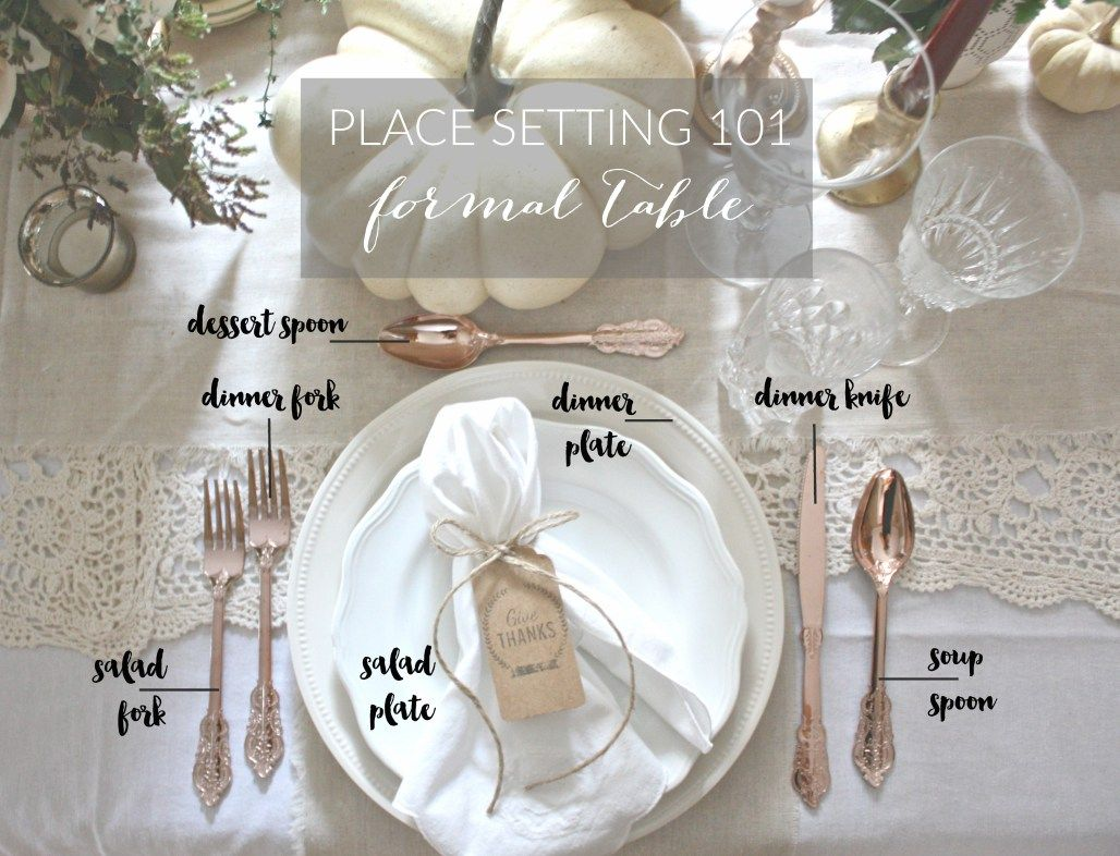 Place Setting 101 Formal Table Dreamery Events